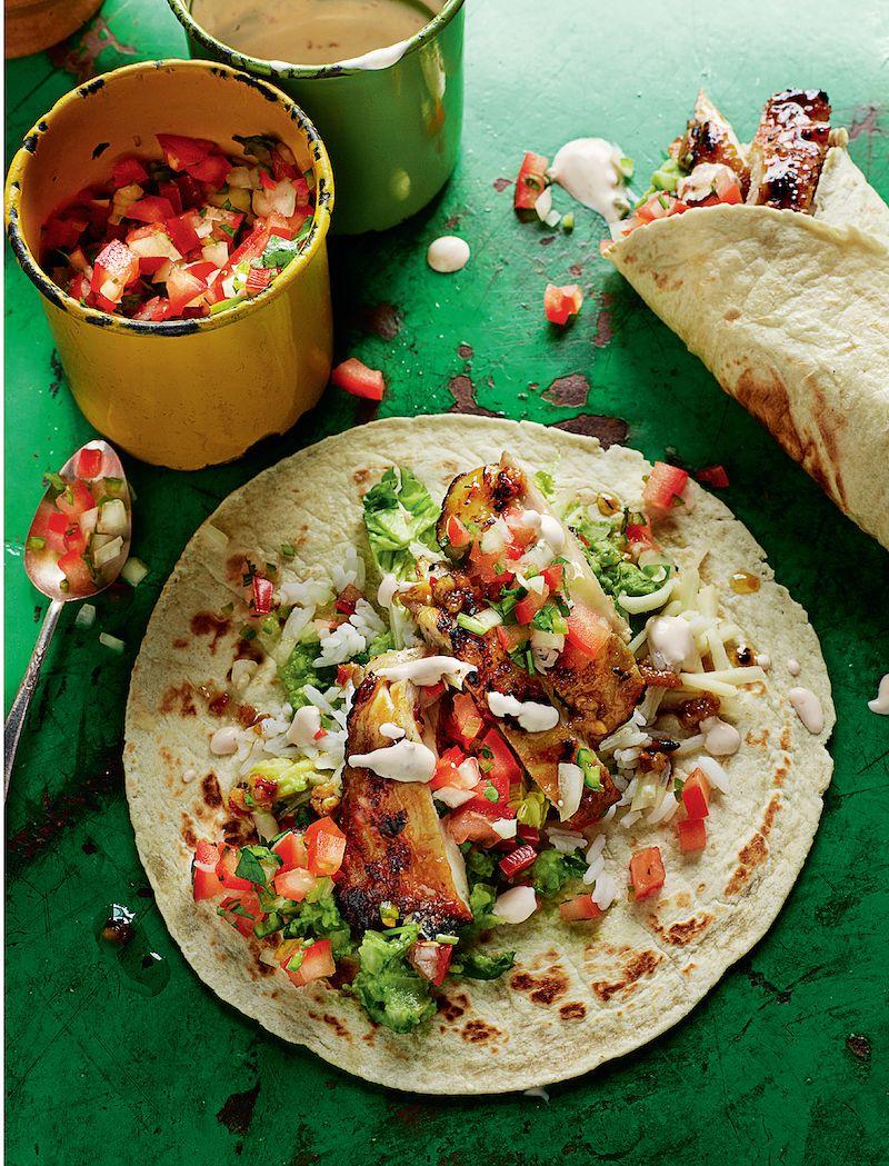 virtual dinner party recipe ideas chicken burritos rick stein