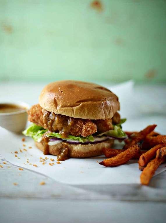 Chicken Katsu Curry Burger