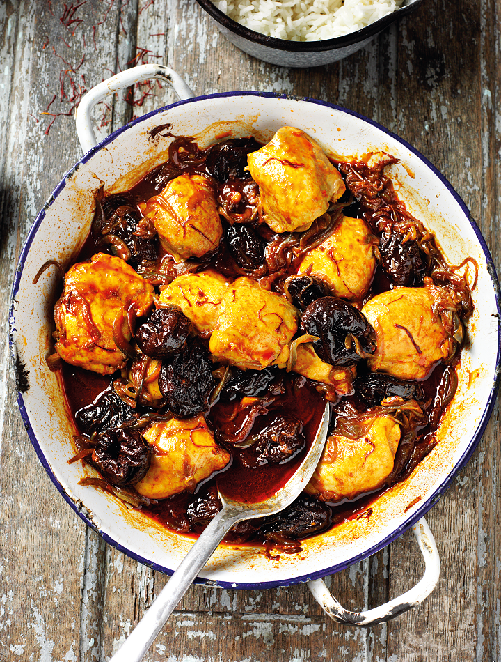 Kozani Chicken with Prunes, Saffron & Paprika - The Happy Foodie