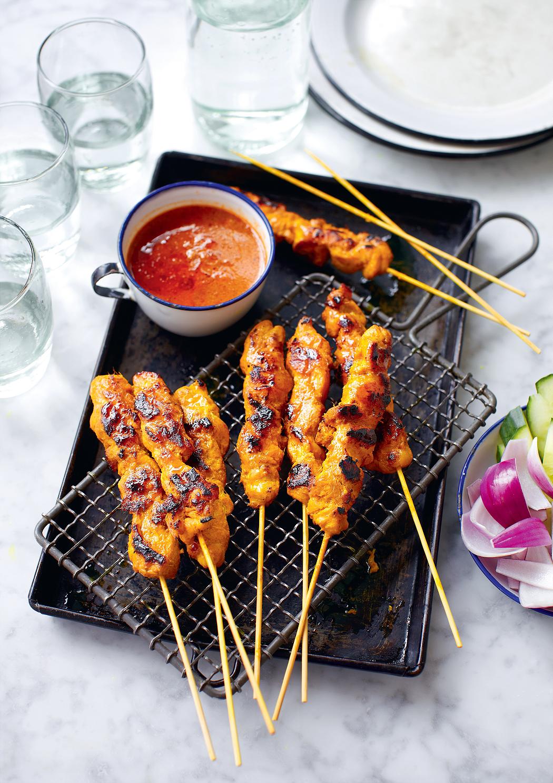 Chicken Satay Skewers Sate Ayam The Happy Foodie