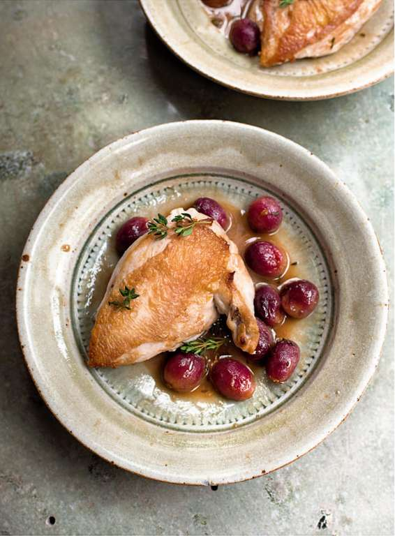 Chicken with Red Grapes and Marsala