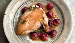 Nigella Lawson's Chicken with Red Grapes and Marsala