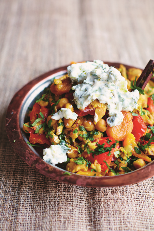Chickpea and Chicken Tagine