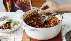 Rachel Ama's Vegan One-Pot Chilli   Store Cupboard Bean Recipe