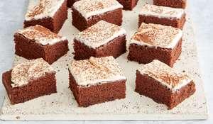 Mary Berry Chocolate Chip Traybake with Vanilla Mascarpone Icing Recipe | BBC 2 Quick Cooking