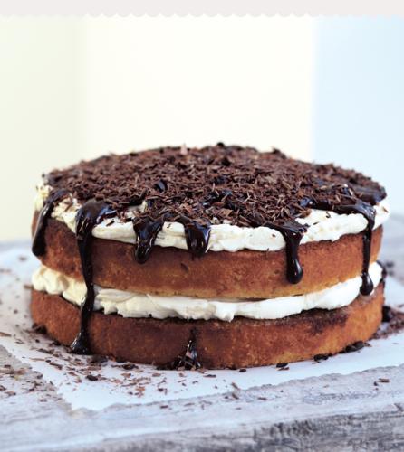 Hazelnut Tiramisu Cake from Bake Me a Cake as Fast as You Can