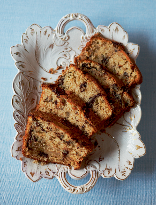 Chocolate and banana loaf the happy foodie chocolate and banana loaf forumfinder Image collections