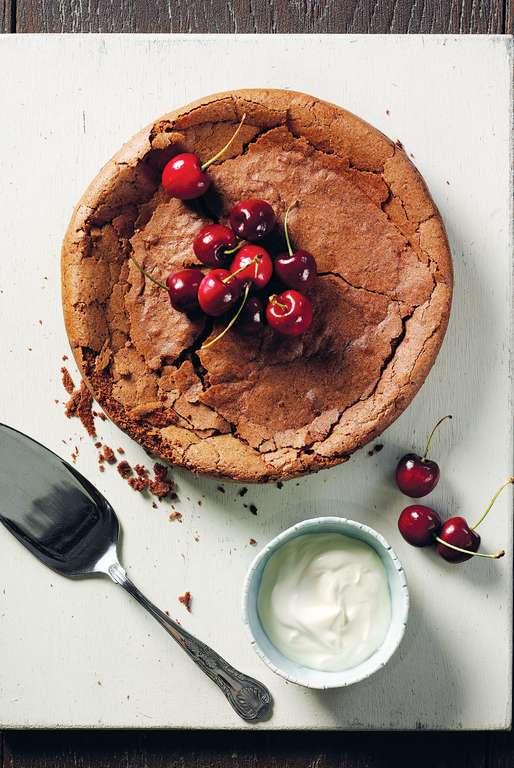 Chocolate Espresso and Chickpea Fudge Cake