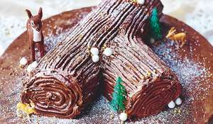 Jamie Oliver's Festive Chocolate Log