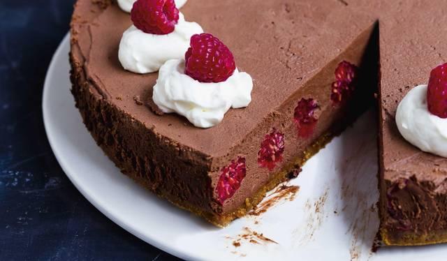 Vegan Mousse Au Chocolat Raspberry Cake