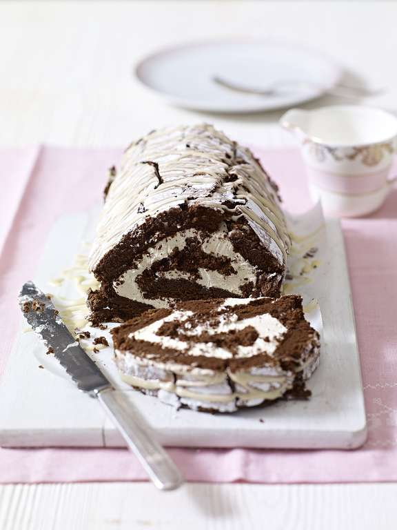 Chocolate and Irish Cream Roulade