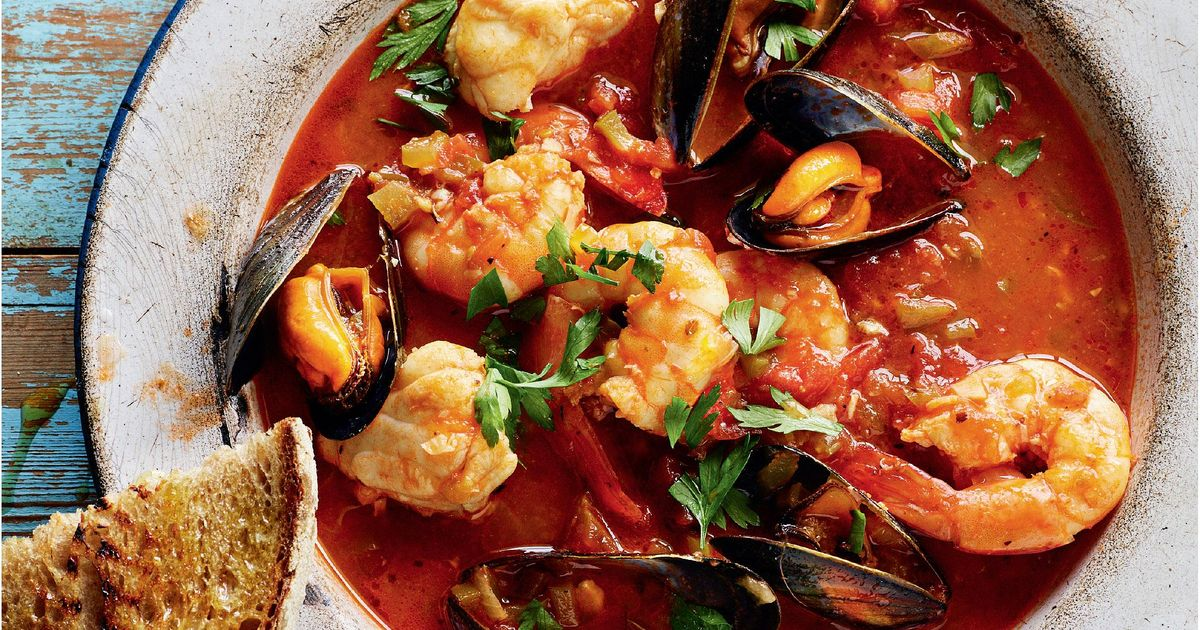Rick Stein S Monkfish Mussel And Prawn Stew With Char