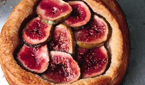 Light Fig Tarts with Crème Fraîche
