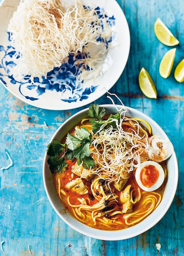 chicken stock recipes Coconut Chicken Noodles from The Rangoon Sisters: Recipes from our Burmese family kitchen by Amy & Emily Chung