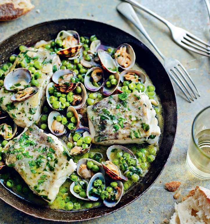 Cod with Peas and Parsley