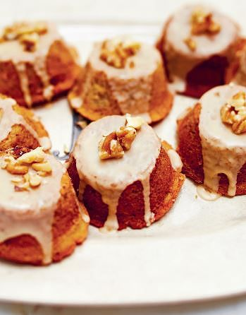 Coffee Cardamom Walnut Cakes from The Violet Bakery Cookbook