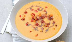 Butternut Squash and Chorizo Soup | Slow Cooker Recipe