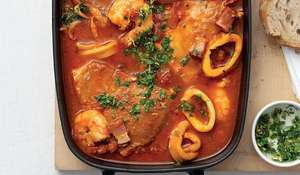 Slow-cooked Italian Fish Stew with Pancetta and Garlic Recipe