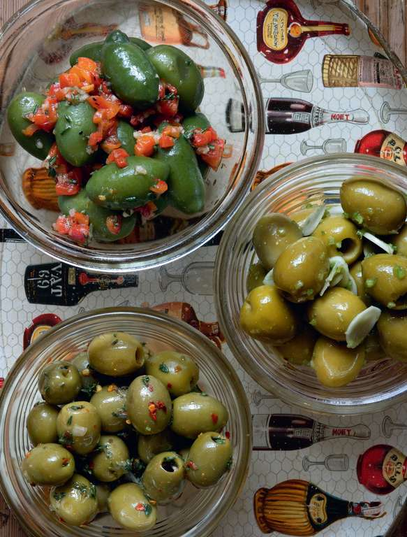 Spiced Olives, Three Ways