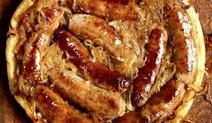 Upside-down Sausage and Onion Tart