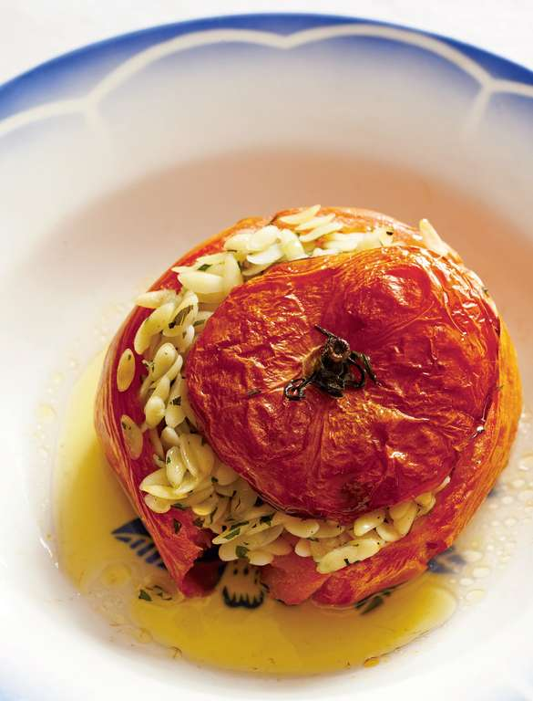 Tomatoes Stuffed with Pasta