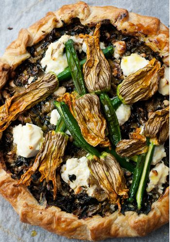 Corsican Pie with Courgette Flowers