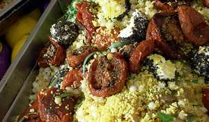 Ottolenghi's Couscous and Mograbiah with Tomatoes