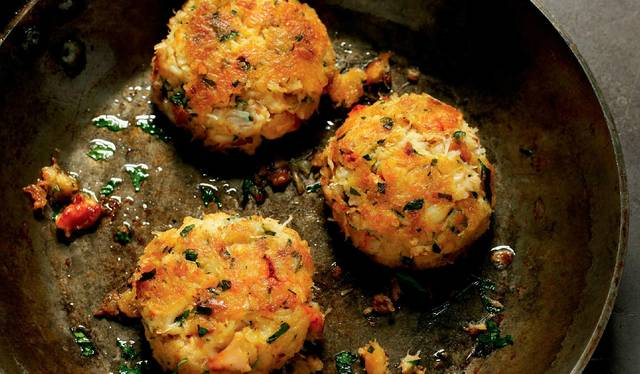 Maryland Crab Cakes With A Tarragon And Butter Sauce The Happy Foodie