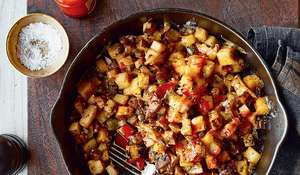 Chrissy Teigen's Cheesy Spicy Breakfast Hash Recipe