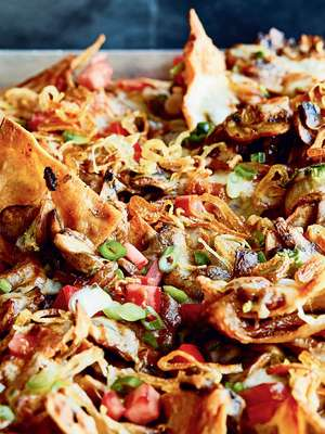 Chrissy Teigen's Mushroom and Crispy Shallot Nachos Recipe