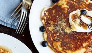 Chrissy Teigen's Blueberry Cream Cheese Pancakes Recipe