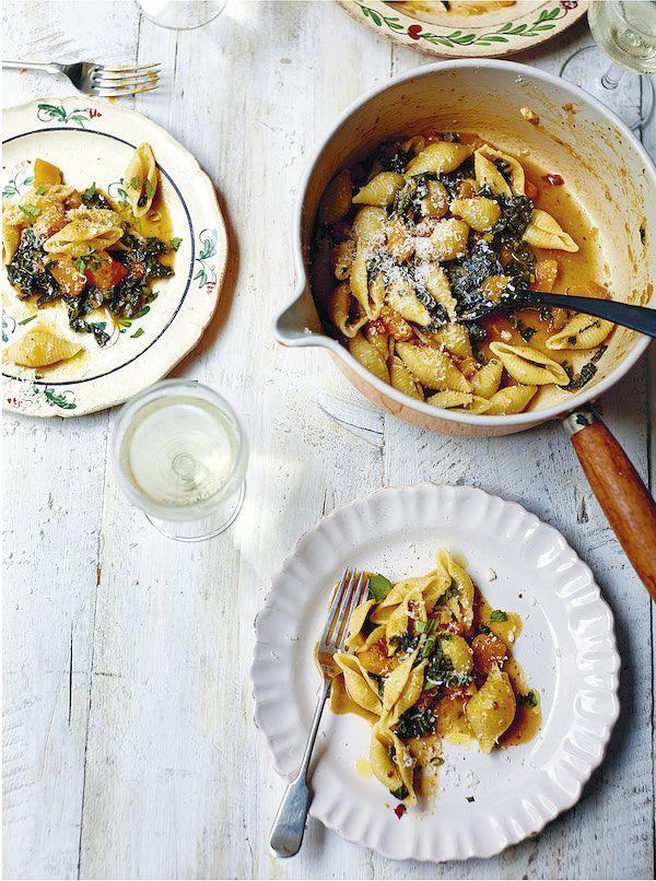 best recipes 2019 creamy squash pasta georgina hayden stirring slowly