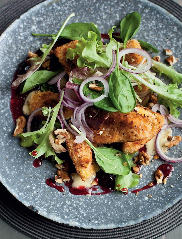 vegetarian christmas starters crispy camembert a salad for all seasons
