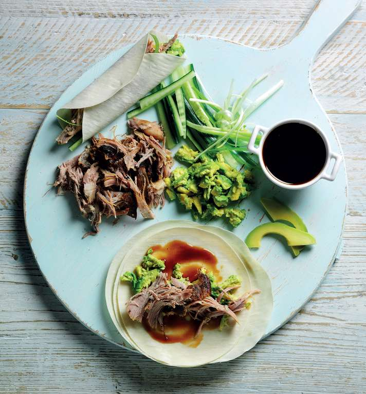Crispy Duck and Avocado Pancakes
