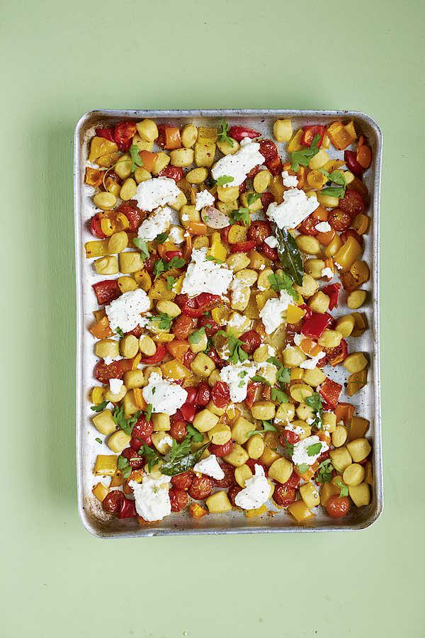 easy recipes to make christmas period crispy gnocchi traybake rukmini iyer