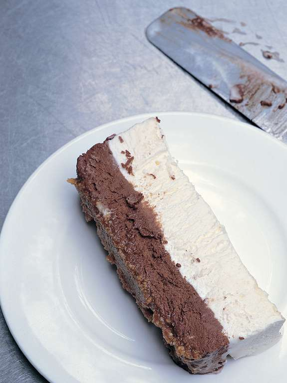 Easy Chocolate and Vanilla Semifreddo