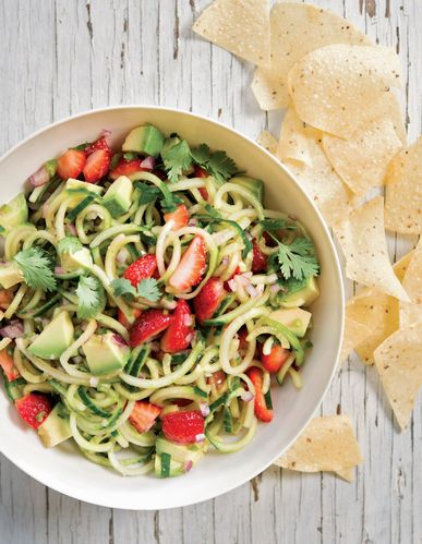Cucumber, Avocado, and Strawberry Salsa