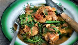 Chicken with Spinach (chicken palag)