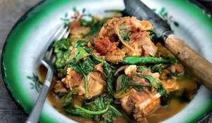 Chicken with Spinach (chicken palag)