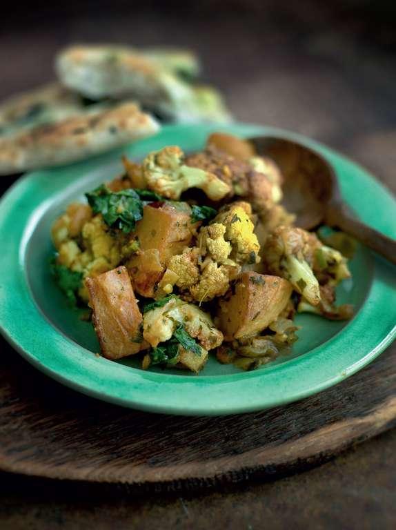 Cauliflower with Potatoes (aloo gobi)