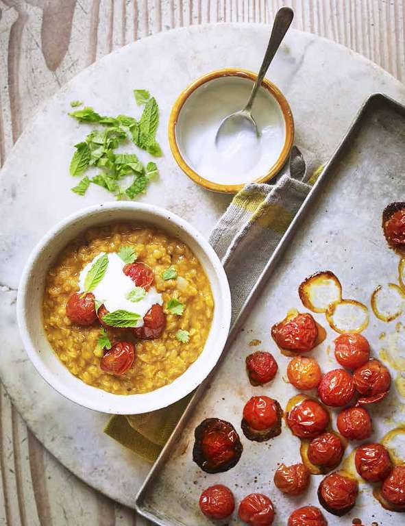 Dahl with Roasted Tomatoes