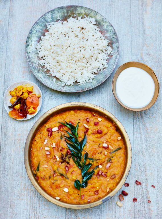 Gujarati Dal with Peanuts + Star Anise