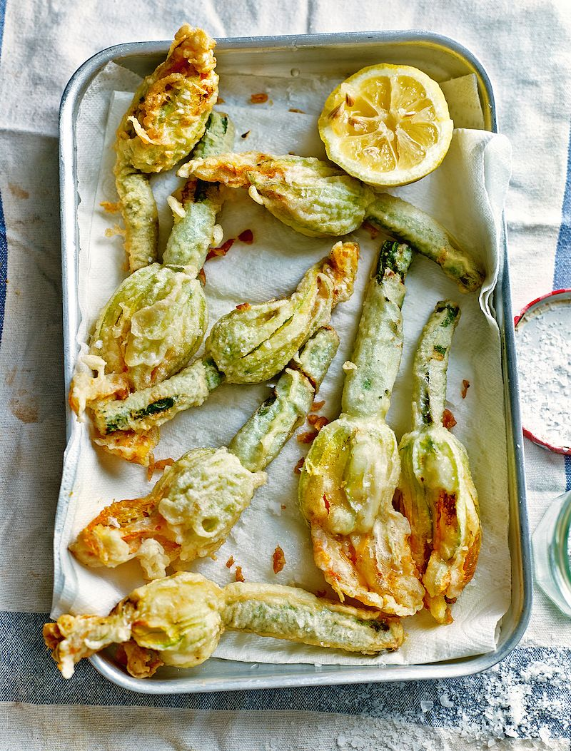 eat the seasons summer deep fried courgette flowers my simple italian theo randall