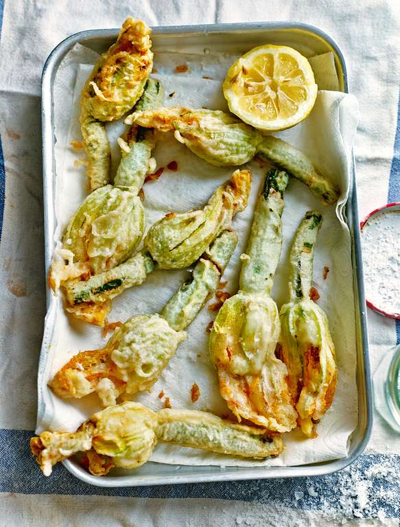 Deep-Fried Courgette Flowers Stuffed with Ricotta and Herbs