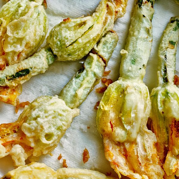 Deep Fried Courgette Flowers Stuffed With Ricotta And