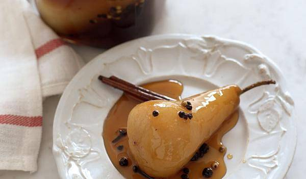 Christmas Pears.Spiced Pickled Pears