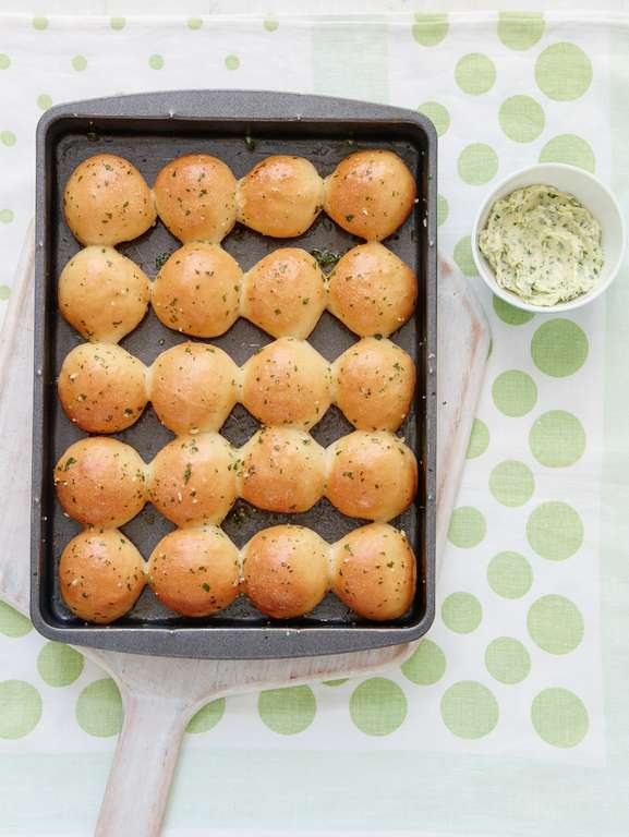 Dough Balls with Garlic Herb Butter