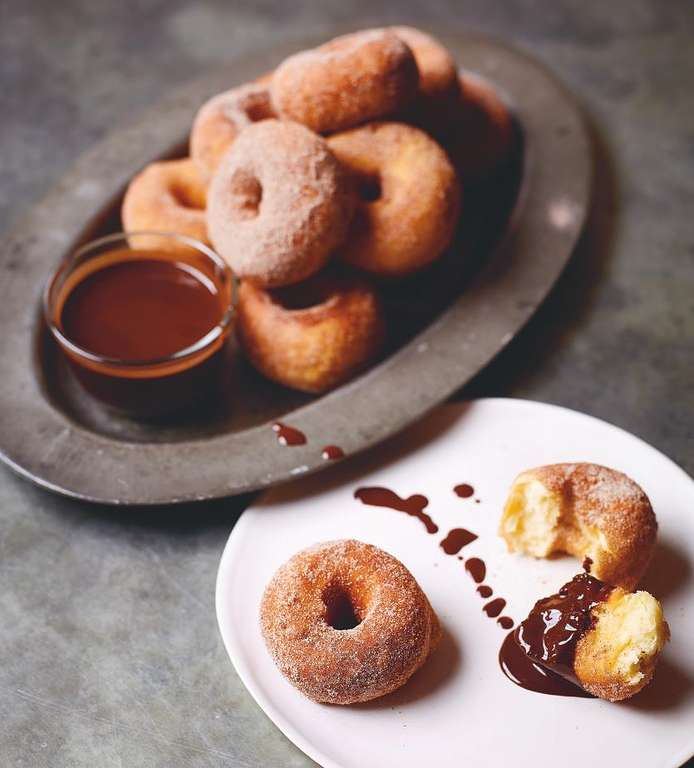 Doughnuts and Hot Chocolate Sauce