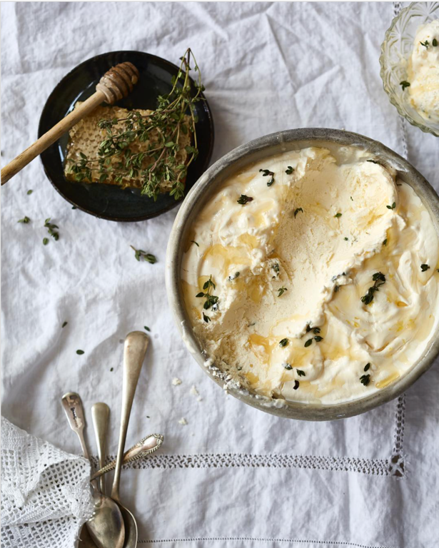 Ricotta, Honey and Thyme Ice Cream