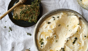No Churn Greek Ricotta Ice Cream | Thyme, Honey, Ricotta